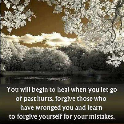 You will begin to heal when you let go of past hurts. Forgive those who have wronged you and learn to forgive yourself for your mistakes.